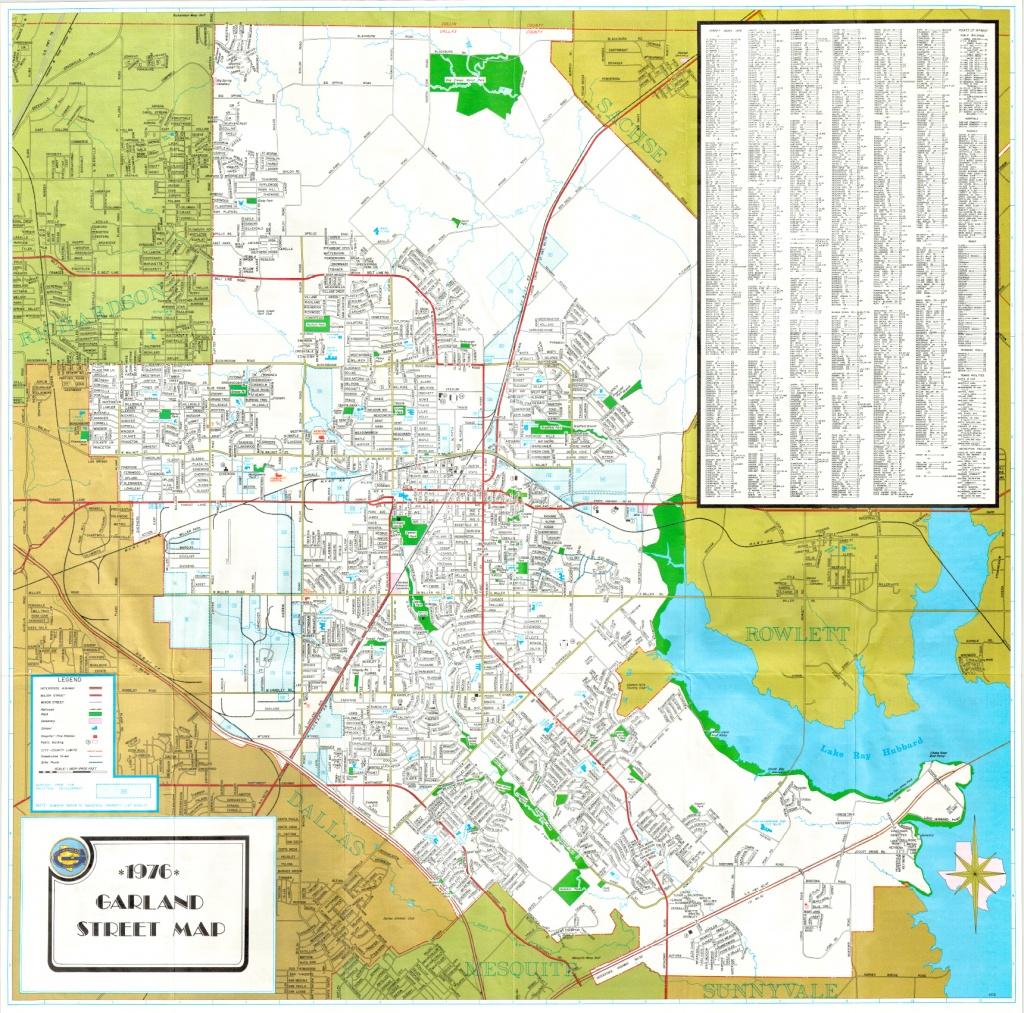 Garland Landmark Society - City Map, Garland Texas 1976 - Garland Texas Map