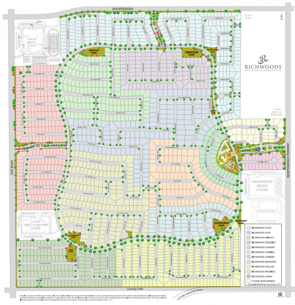 gated home communities in frisco tx richwoods community map frisco texas map Frisco Texas Map