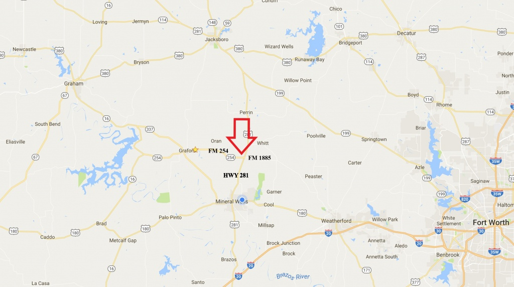 General Map - 160 Acre Cattle & Hunting Property, North Mineral - Mineral Wells Texas Map