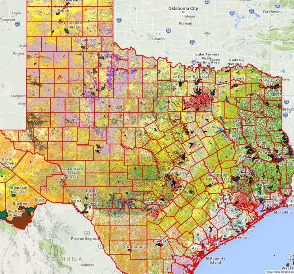 Geographic Information Systems (Gis) - Tpwd - Texas Deer Hunting Zones Map