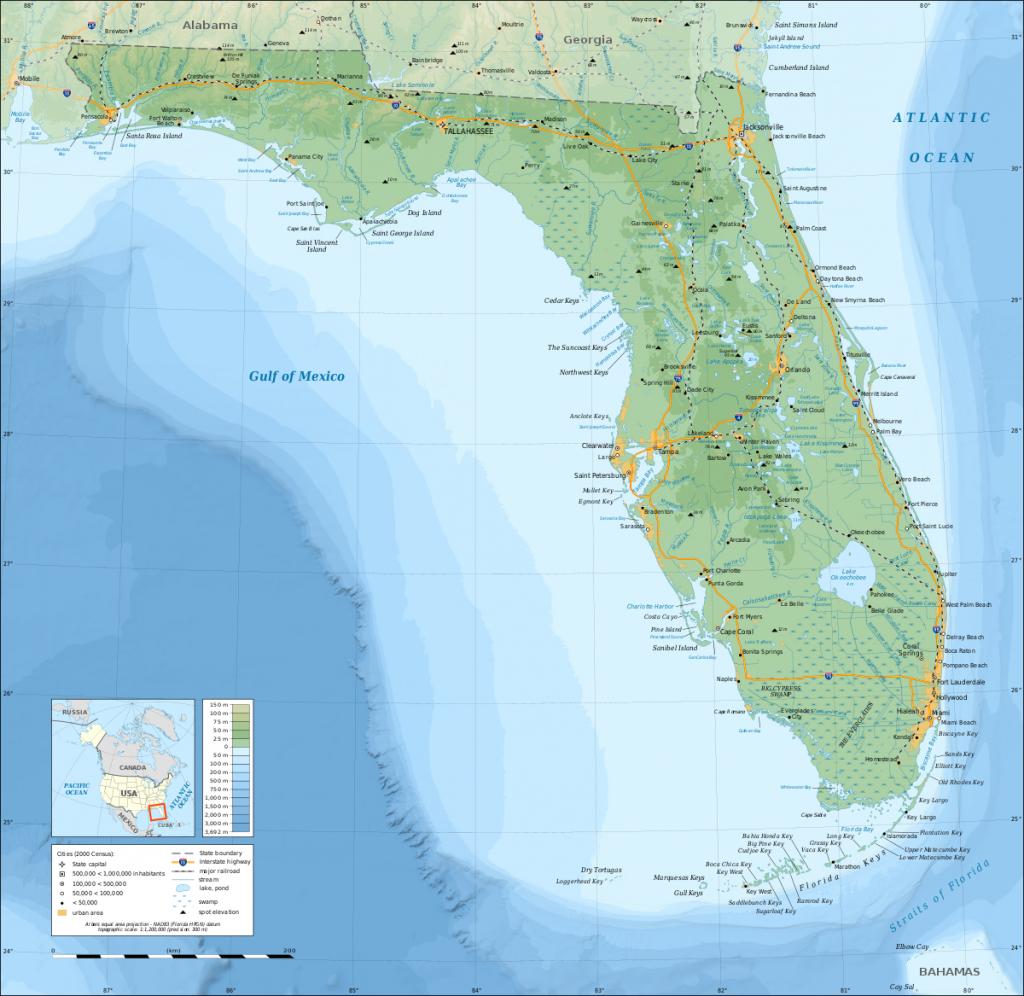 Geography Of Florida - Wikipedia - Map Of Florida Gulf Coast