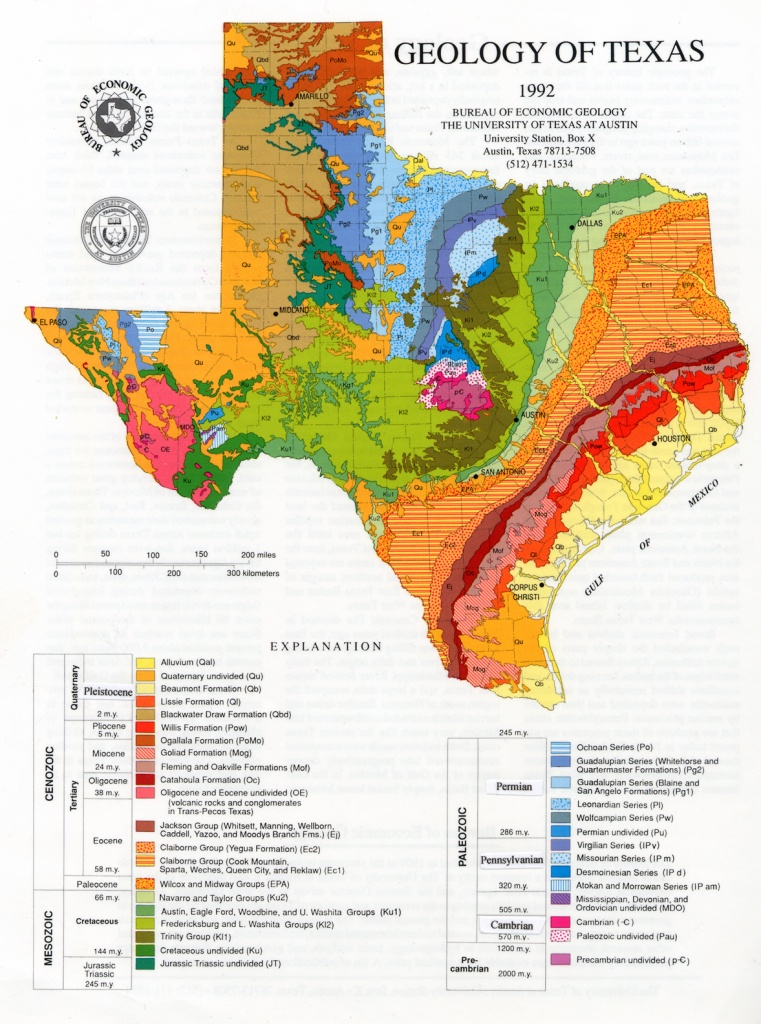 Geologic Maps And Geologic Structures: A Texas Example - Texas Geologic Map Google Earth