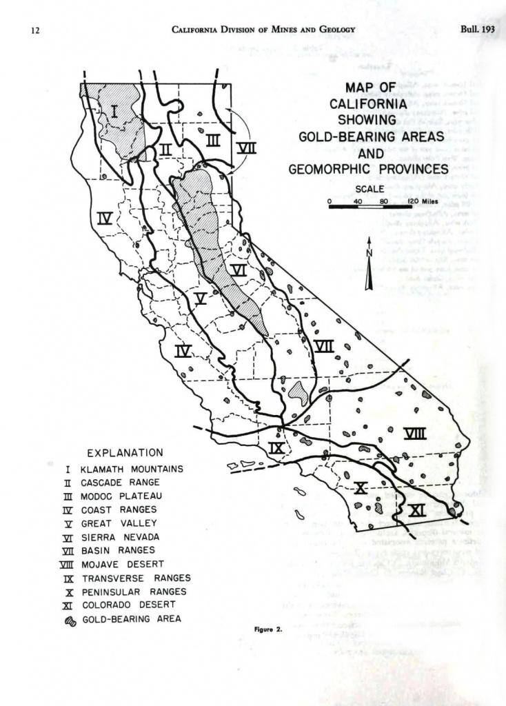Geopolitical - Map - American - California - Gold Mining Districts - California Gold Mines Map