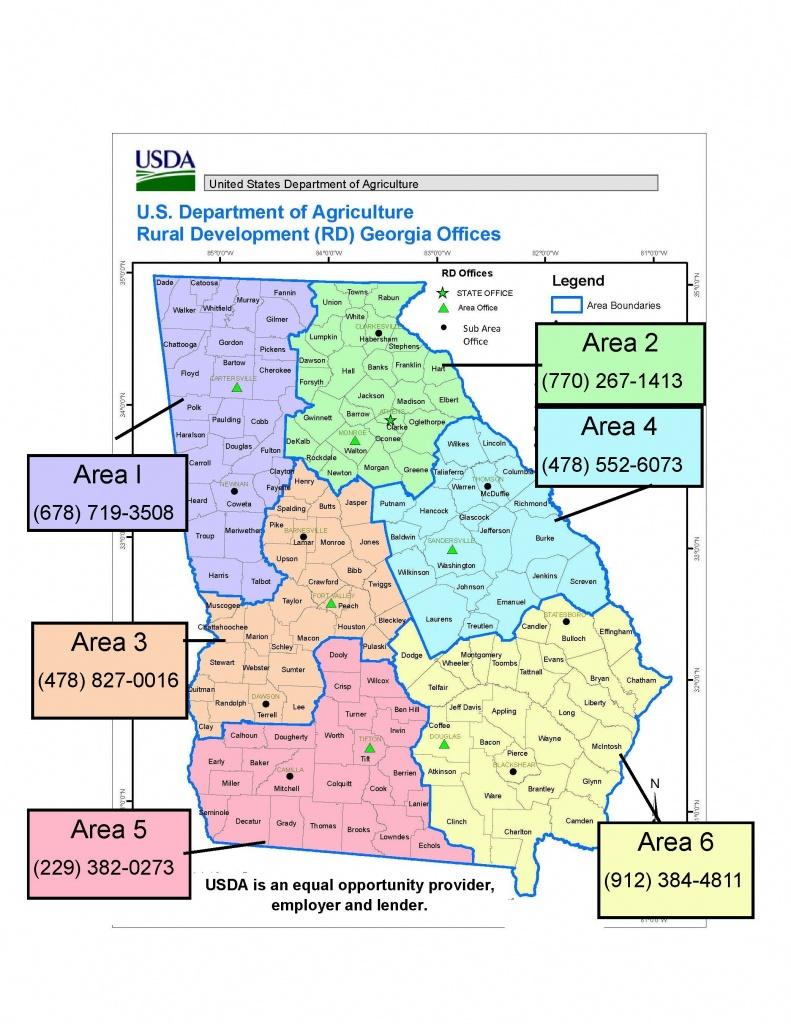 Georgia Contacts | Usda Rural Development - Usda Loan Map California