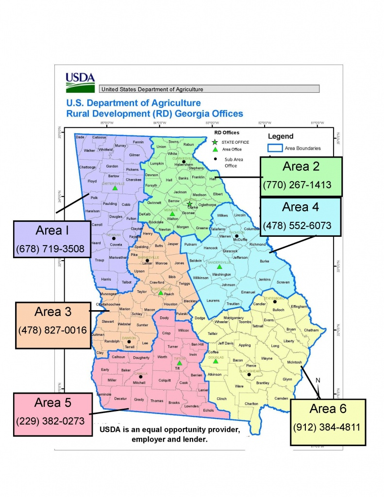 Georgia Contacts | Usda Rural Development - Usda Rural Development Map Texas