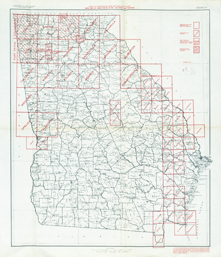 Georgia Historical Topographic Maps - Perry-Castañeda Map Collection - Printable Map Of Columbus Ga