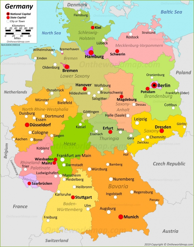 Germany Maps   Maps Of Germany - Free Printable Map Of Germany