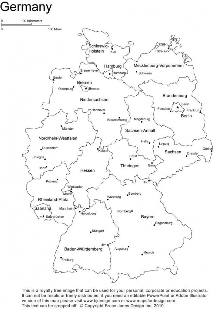 Germany Printable, Blank Map, Bonn, Berlin, Europe, Royalty Free - Free Printable Map Of Germany