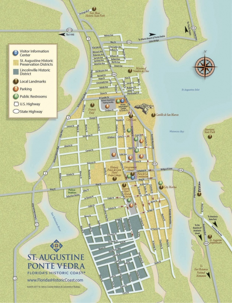 Get To Know Downtown St. Augustine With Our Printable Maps! | St - Map Of St Johns County Florida