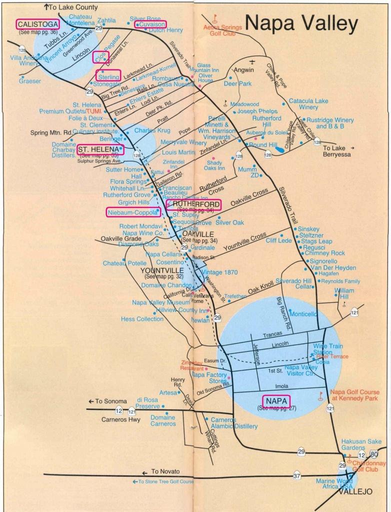 Getaway From It All: Napa Valley | Napalicious's Blog | Napa Valley - Napa Winery Map Printable