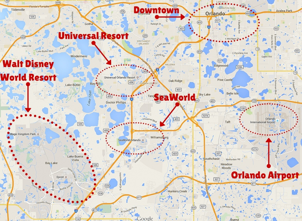 Getting Around The Orlando Theme Parks - The Trusted Traveller - Orlando Florida Parks Map