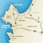 Getting To & Around Carmel By The Sea, California   17 Mile Drive California Map