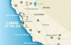 Getting To & Around Carmel By The Sea, California   Map Of Central And Southern California Coast