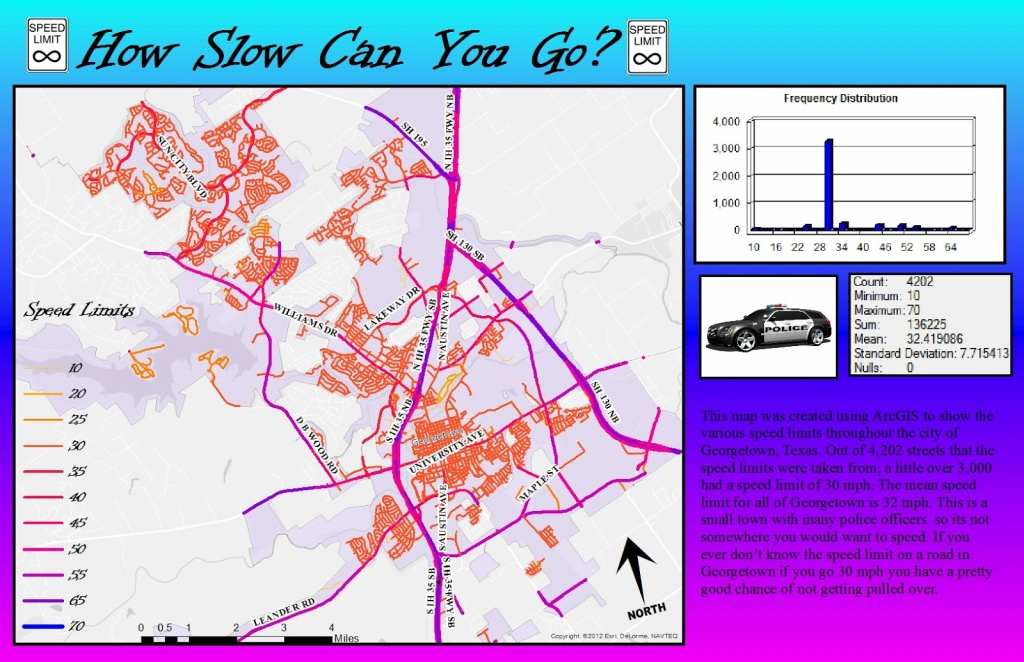 Gis@su: Speed Limits In Georgetown, Texas - Georgetown Texas Map