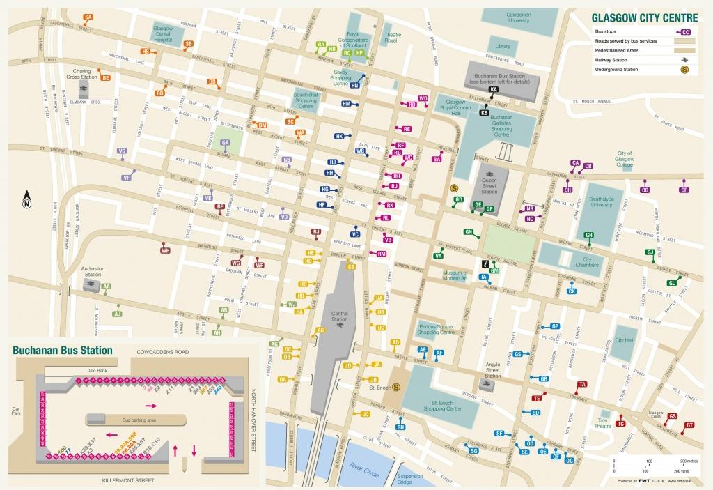 Glasgow City Center Map - Glasgow City Map Printable
