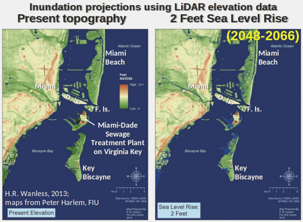 Global Warming Threat: Florida Could Be Overwhelmedsudden Sea Rise - Florida Global Warming Flood Map