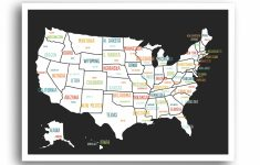 Globalartisancollective 'united States Travel Map' Graphic Art Print   United States Travel Map Printable