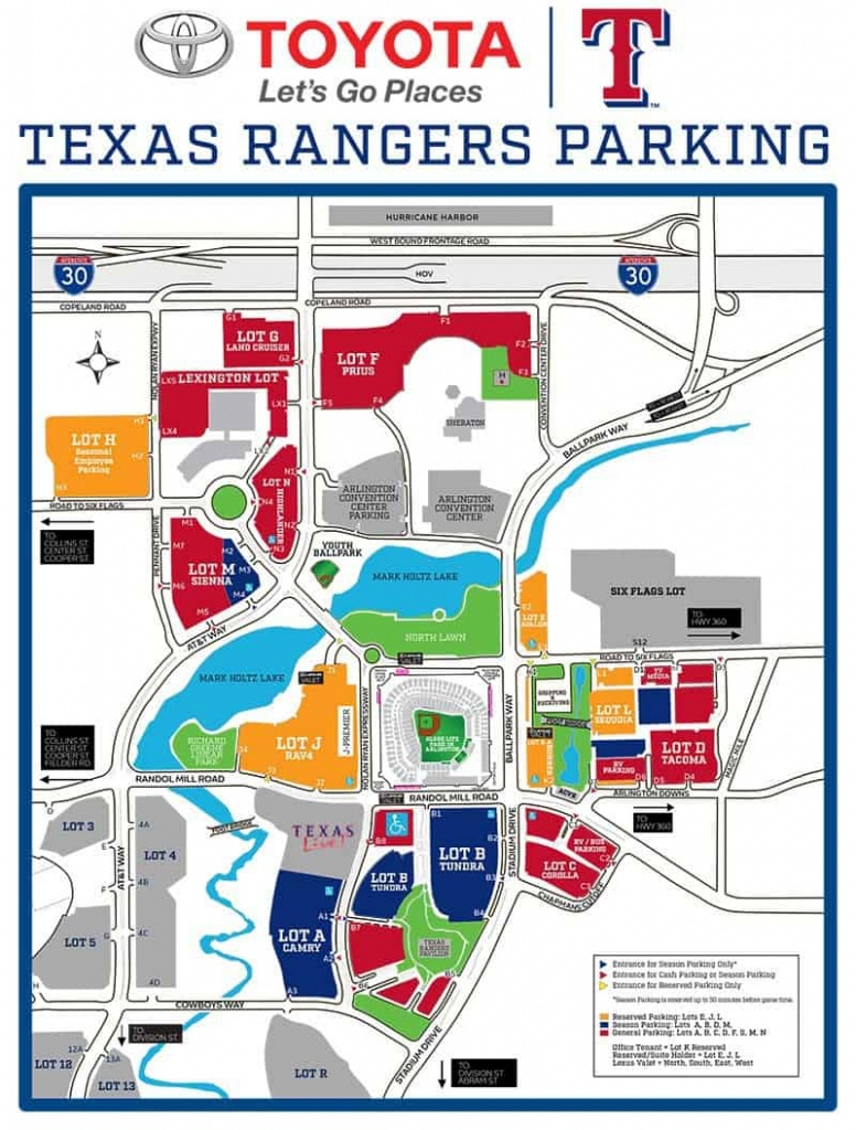 Globe Life Park In Arlington – Where To Park, Eat, And Get Cheap Tickets - Texas Rangers Map