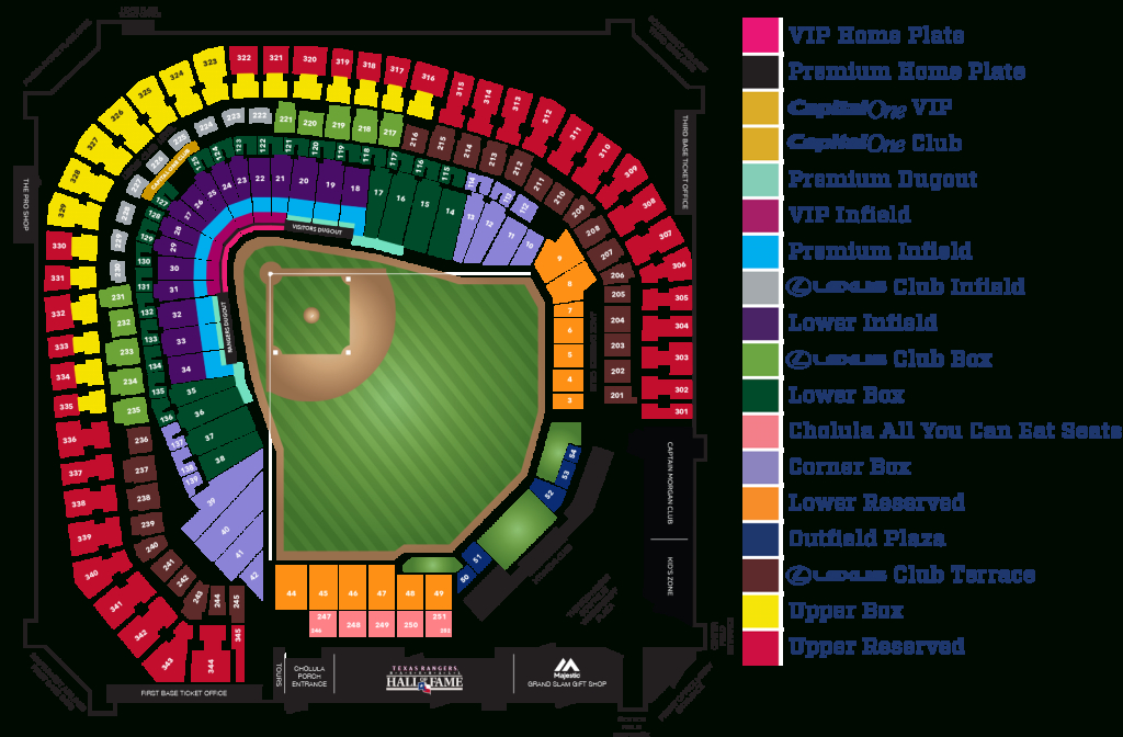 Globe Life Park Seating Map ~ Afp Cv - Texas Rangers Map