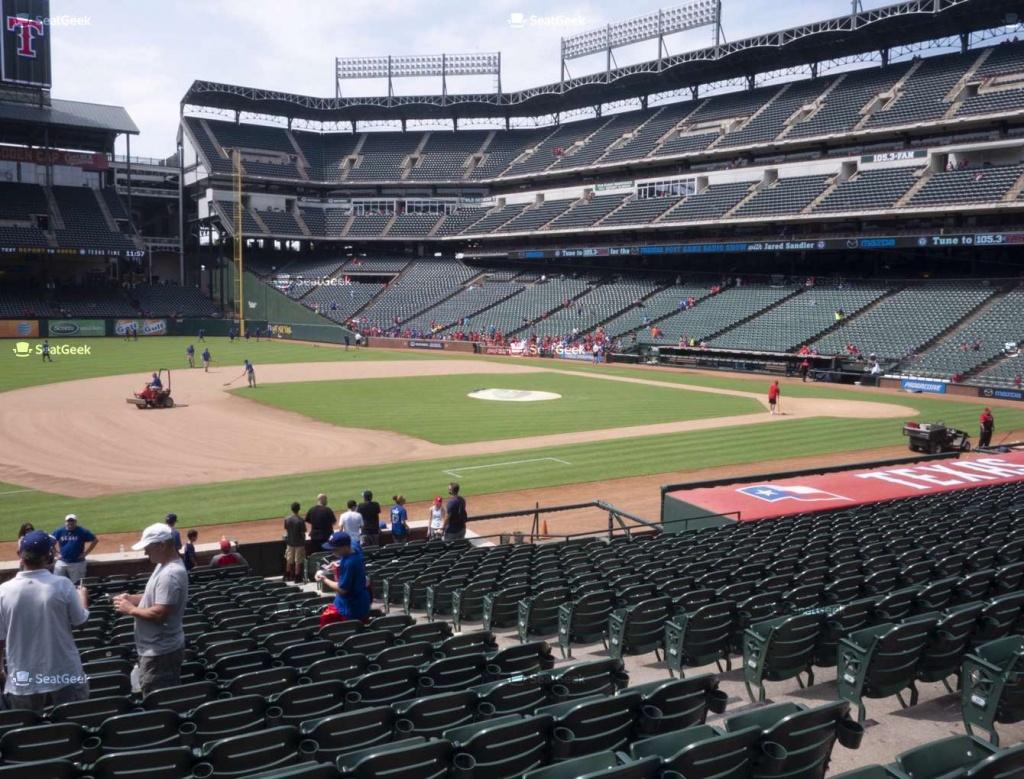 Globe Life Park Section 17 Seat Views | Seatgeek - Texas Rangers Stadium Seating Map