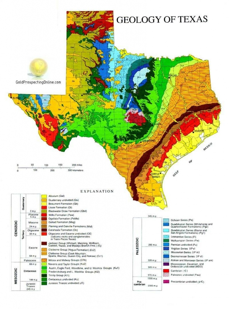 Gold Panning In Texas   L In 2019   Geology, Texas Gold, Texas - Gold Prospecting In Texas Map