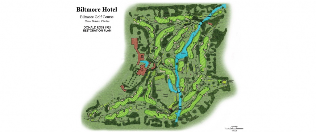 Golf Course Map - The Biltmore Hotel Miami - Florida Golf Courses Map