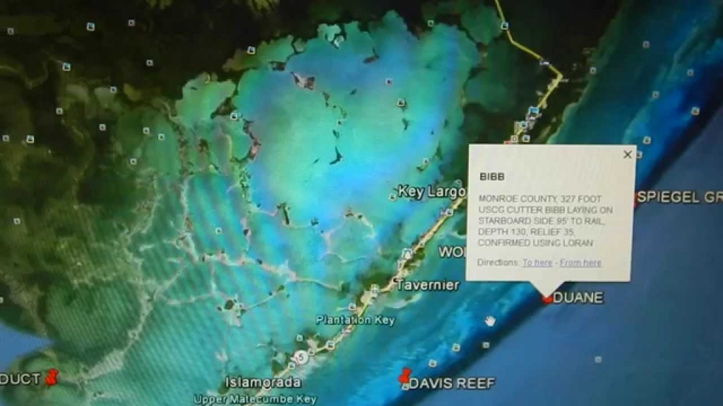 Google Earth Fishing - Florida Keys Reef Overview - Youtube - Google Maps Key Largo Florida