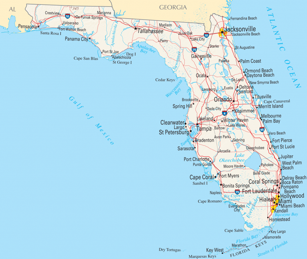 Google Florida Map And Travel Information | Download Free Google - Google Maps Florida