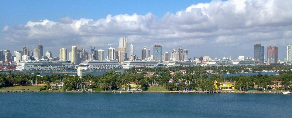 Google Map Of Miami, Florida, Usa - Nations Online Project - Street Map Of Downtown Miami Florida