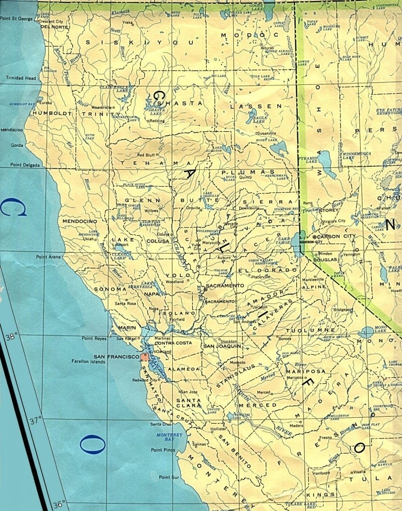 Google Map Of Northern California Cities – Map Of Usa District - Map Of Northern California Counties And Cities