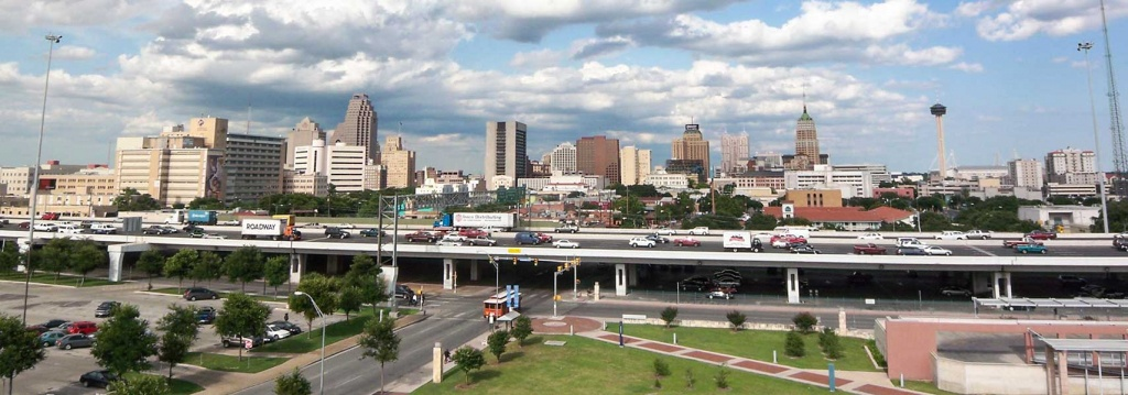 Google Map Of San Antonio, Texas, Usa - Nations Online Project - Map Of Downtown San Antonio Texas