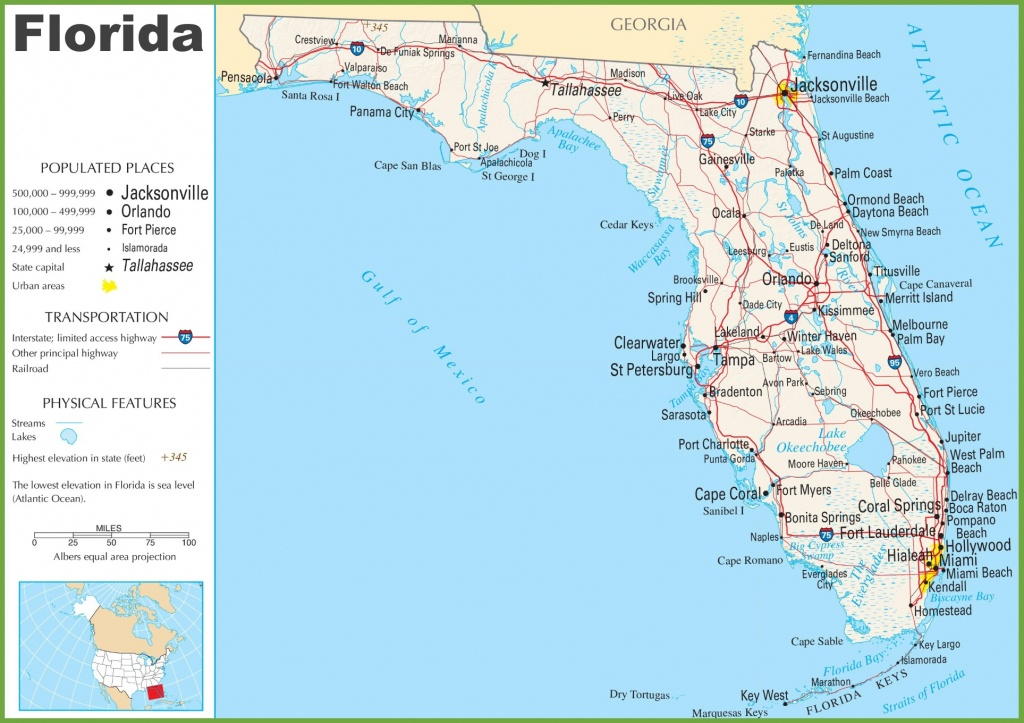 Google Maps Of Florida And Travel Information | Download Free Google - Google Map Of Florida Cities