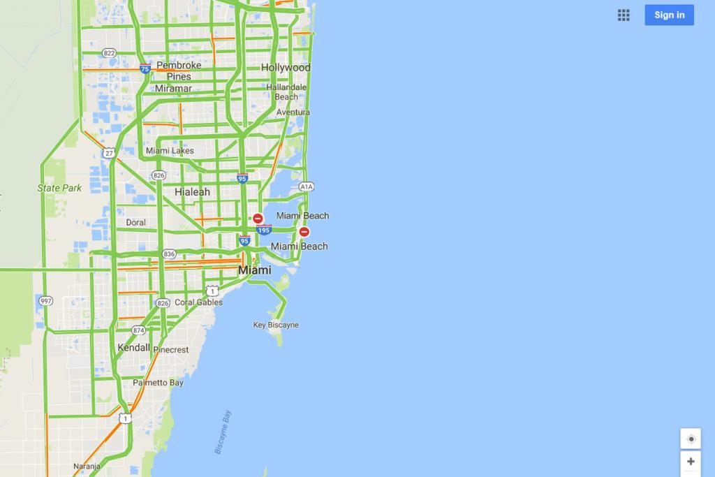Google Maps Will Mark Closed Roads Live As Hurricane Irma Hits - Google Maps Hollywood Florida