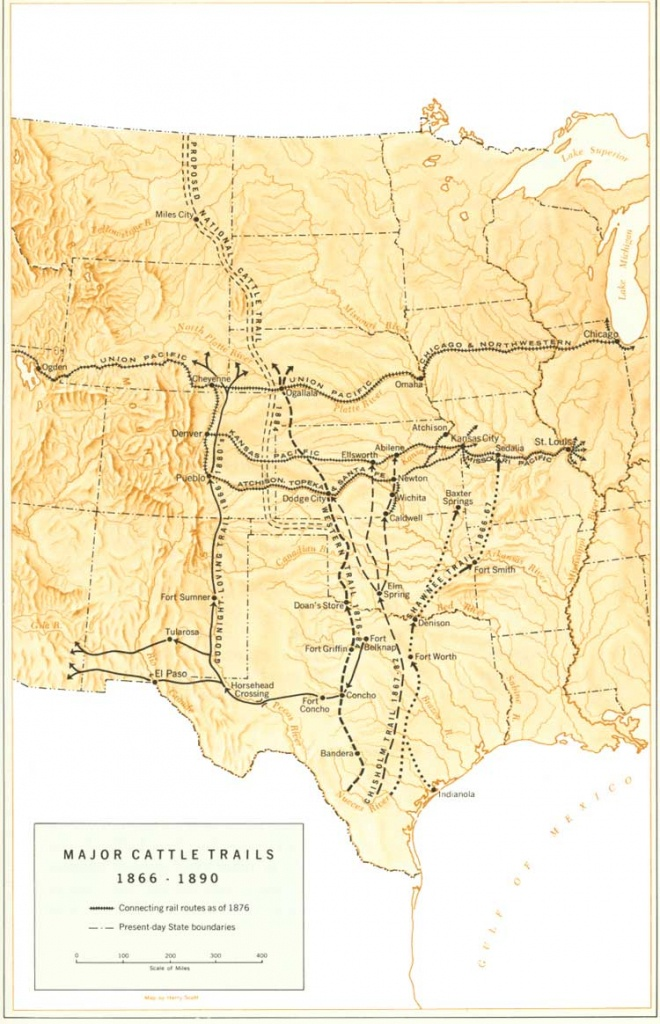 Great Western Cattle Trail - Wikipedia - Texas Trails Maps
