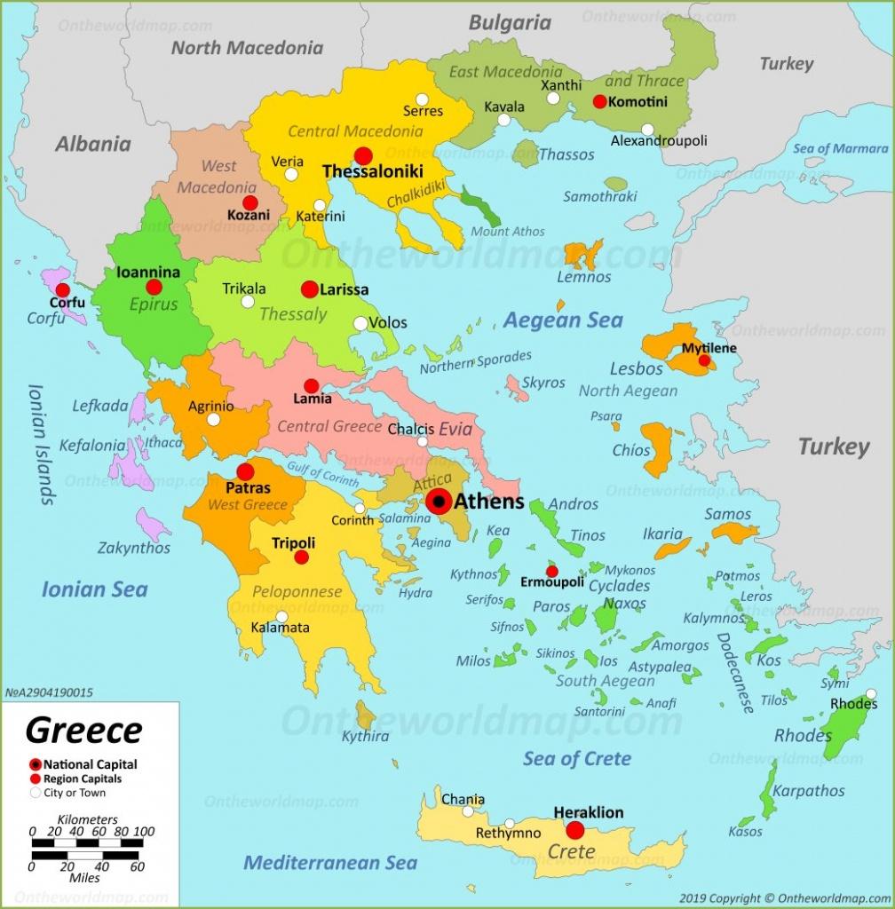 Greece Maps | Maps Of Greece - Printable Map Of Greece