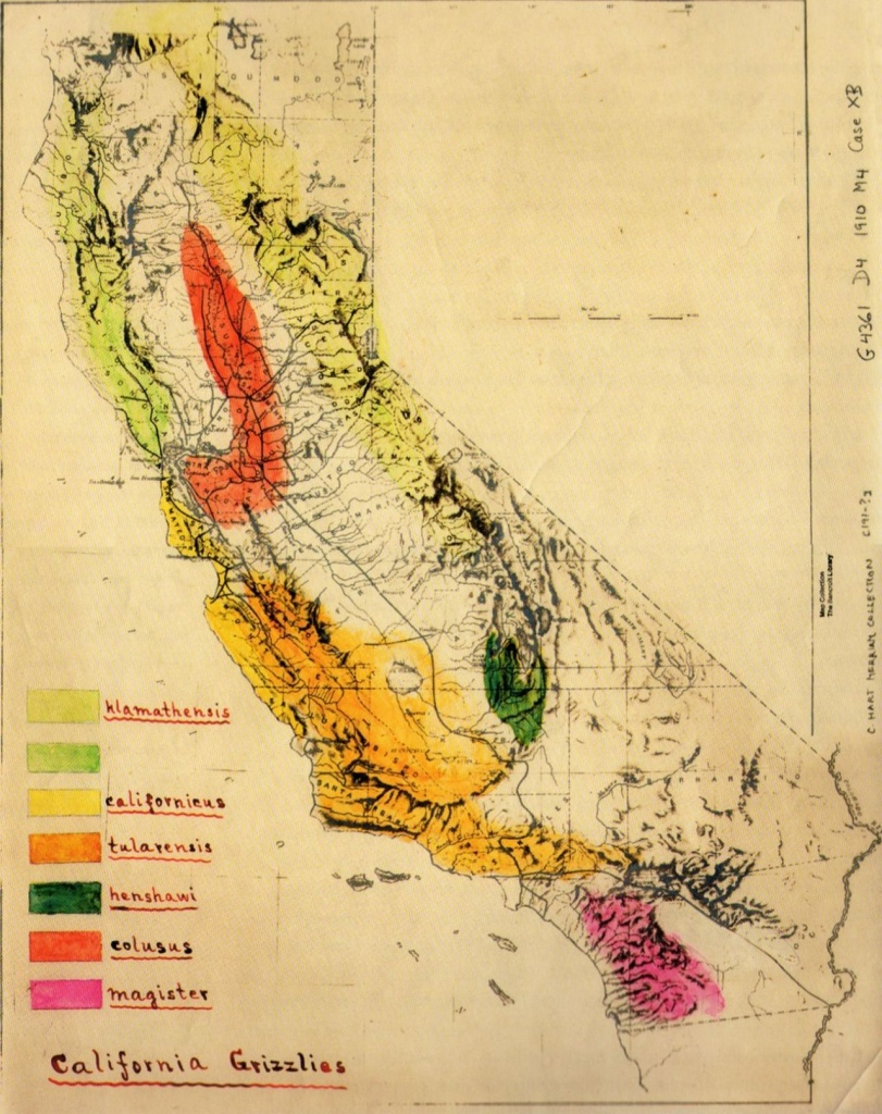 Grizzly Bear In California Map | Mapquest | Map Diagram, California - Bears In California Map