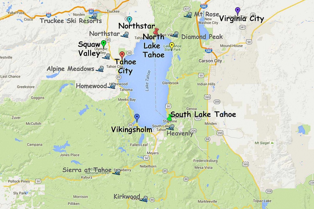 Guide To Planning A Lake Tahoe California Vacation - South Lake Tahoe California Map