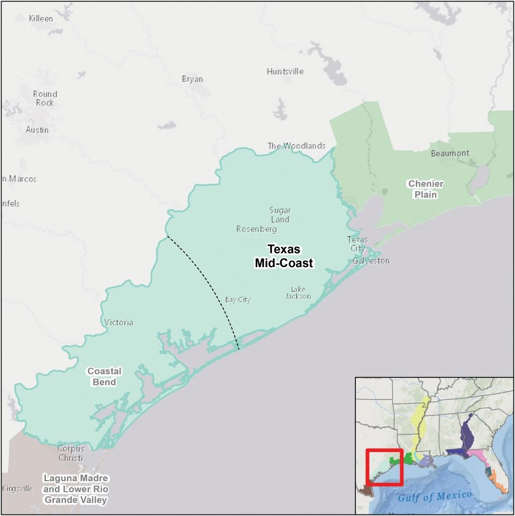 Gulf Coastal Plain Map Texas Mid Coast | D1Softball - Map Coastal Texas