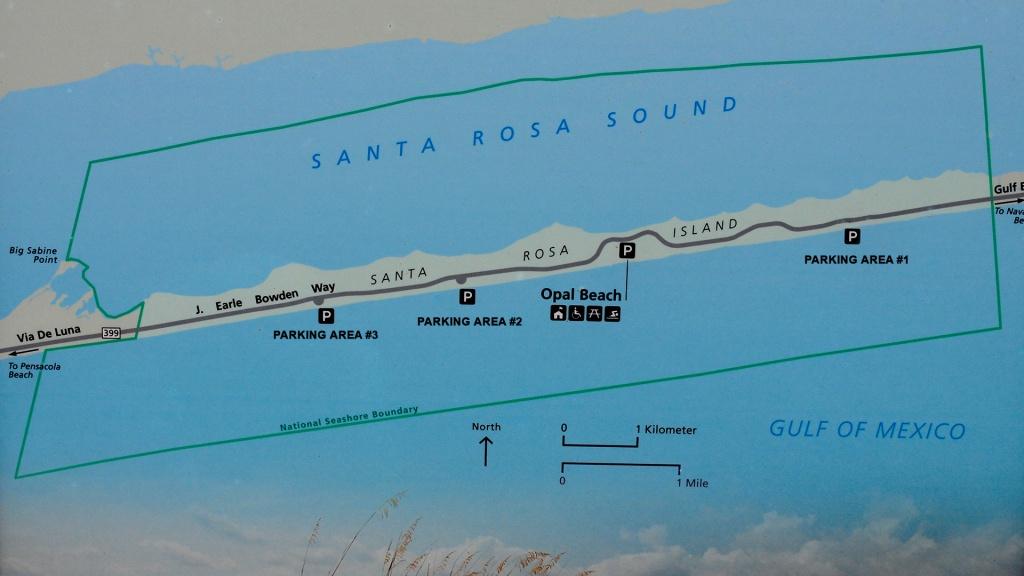 Gulf Islands National Seashore (Florida) | Santa Rosa Area | - Florida Gulf Islands Map