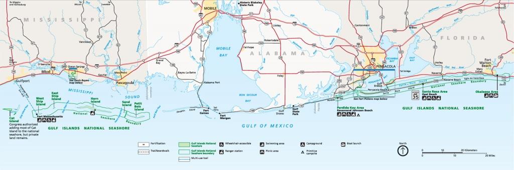 Gulf Islands National Seashore | Park Map | - Florida Gulf Islands Map