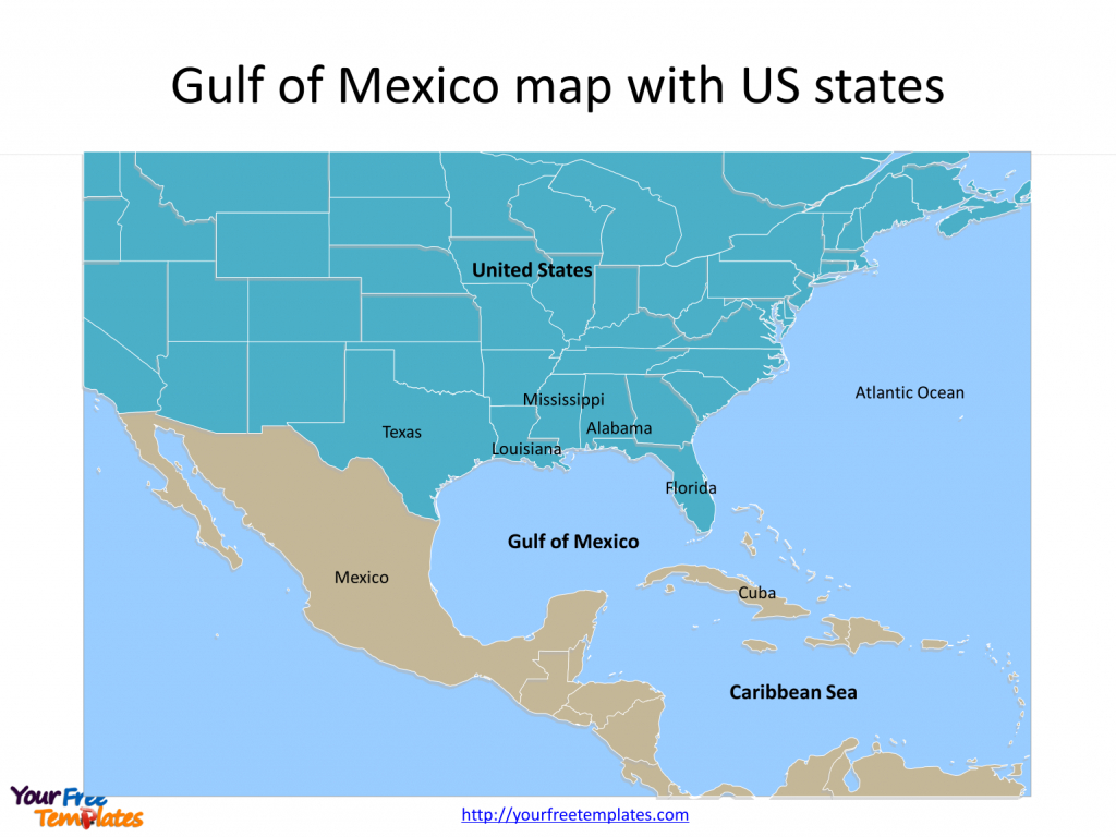 Gulf Of Mexico Map Powerpoint Templates - Free Powerpoint Templates - Mexico Florida Map