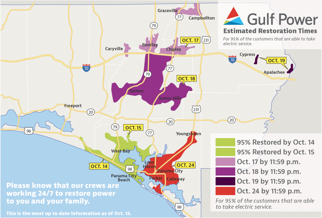 Gulf Power Announces Panama City Beach All Powered Up – Oct. 15 - Street Map Panama City Florida