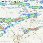 Hail Map Austin   San Marcos, Texas April 20, 2006   Interactive   Texas Hail Storm Map