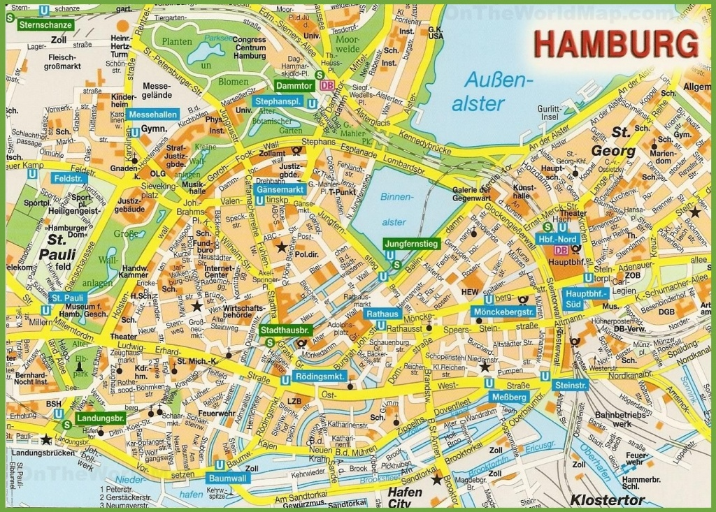 Hamburg City Centre Map - Printable Map Of Hamburg