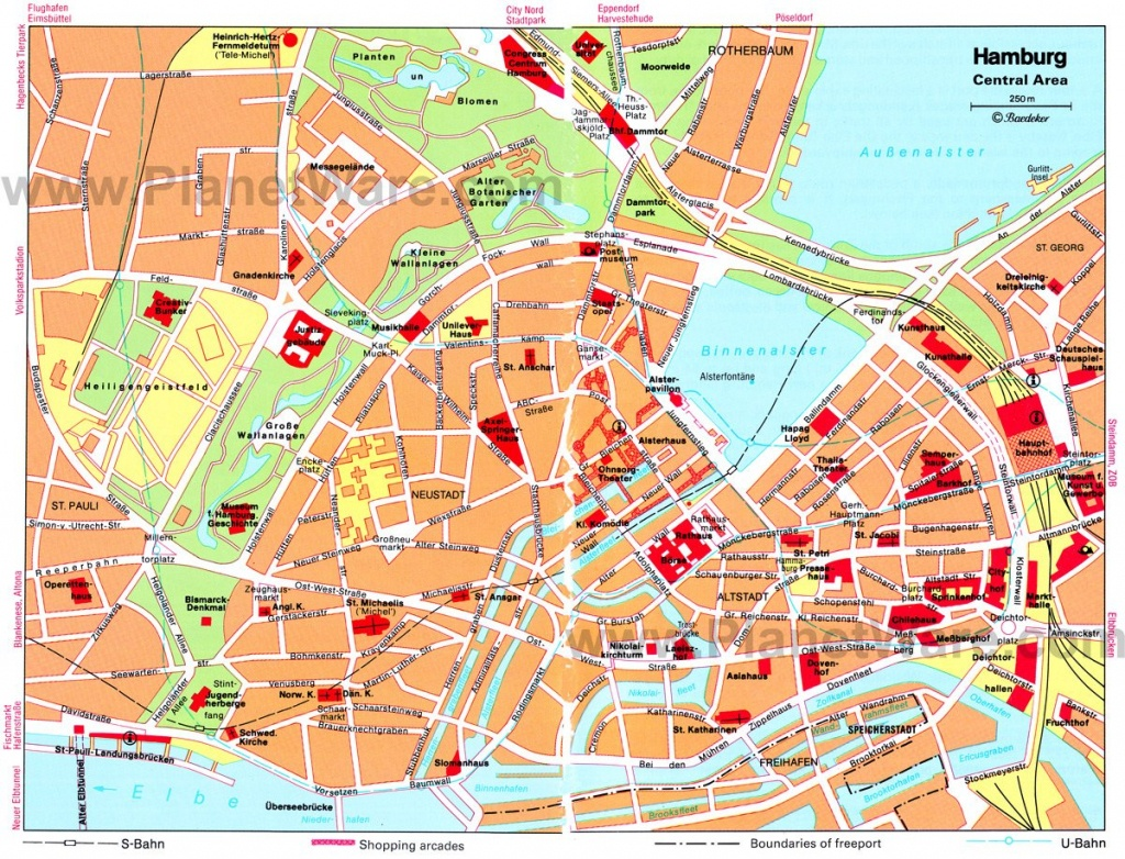 Hamburg Germany Cruise Port Of Call - Printable Map Of Hamburg