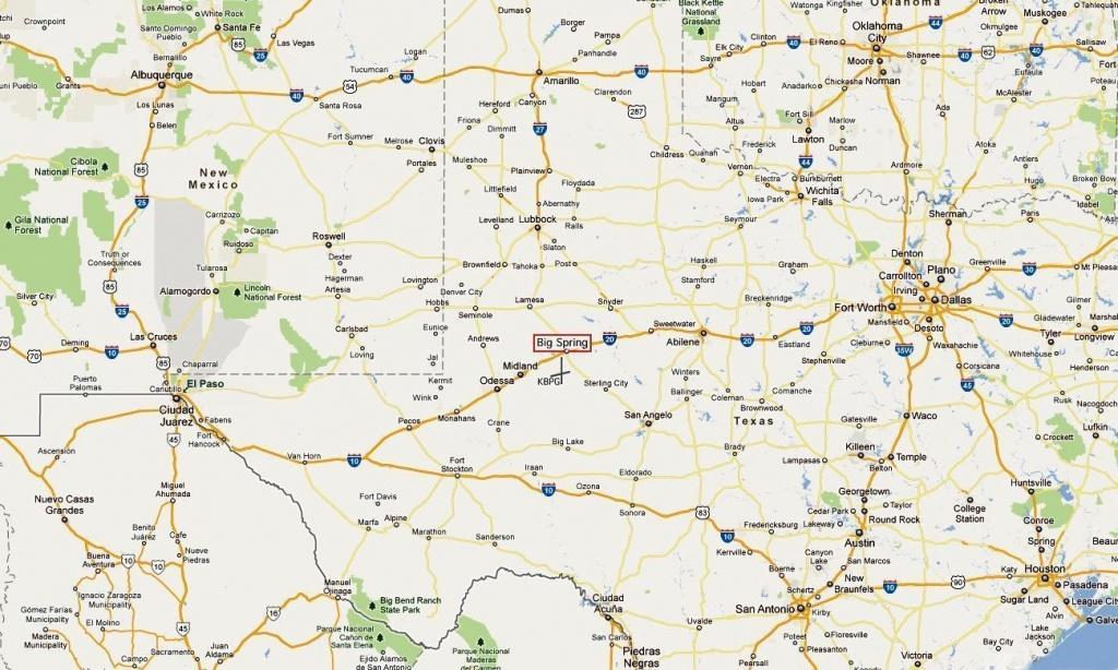 Hangar 25 Air Museum In Big Spring, Texas At Former Webb Afb - Big Spring Texas Map