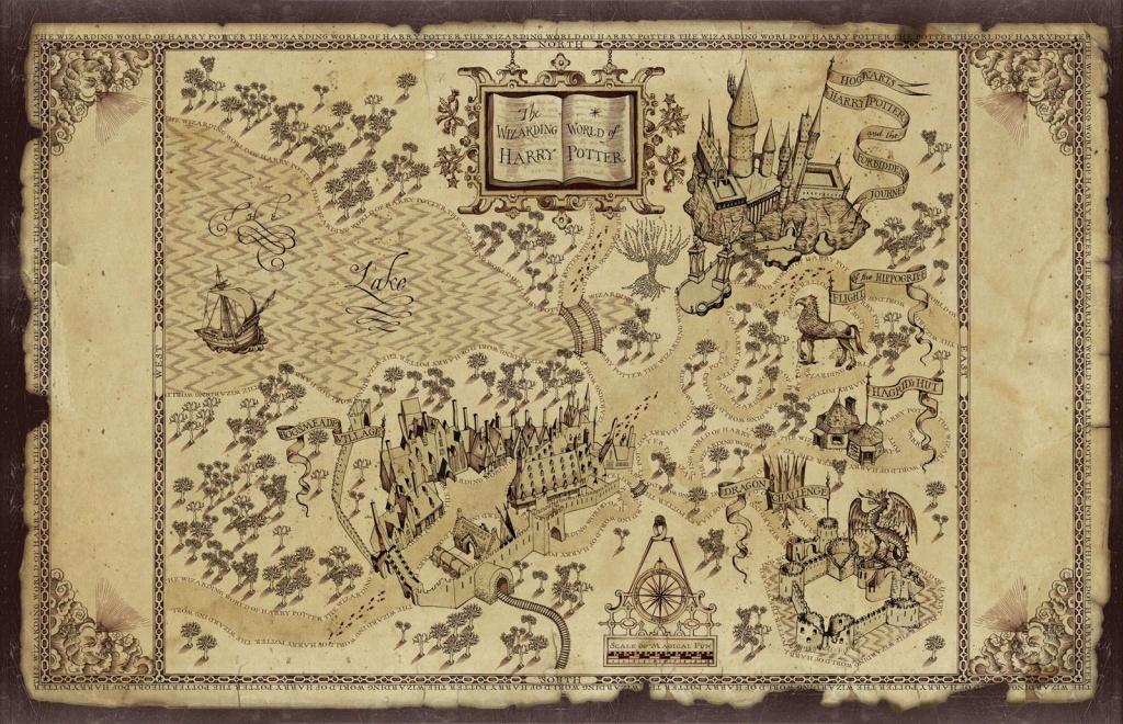 Harry Potter Map | Treasure Map Inspiration | Harry Potter Free - Free Printable Marauders Map
