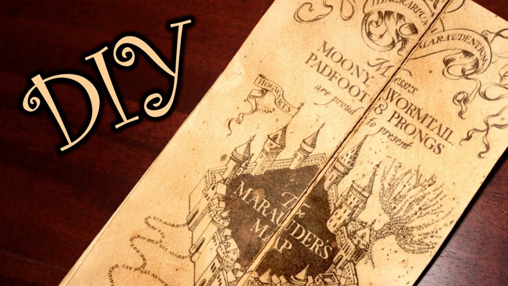 Harry Potter Marauder's Map - Diy - Youtube - Free Printable Marauders Map
