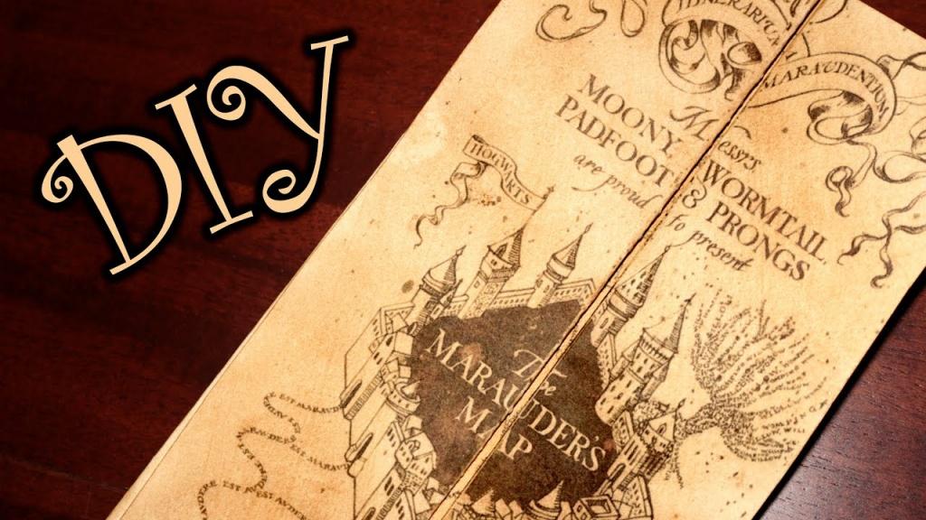 Harry Potter Marauder's Map - Diy - Youtube - Harry Potter Marauders Map Printable