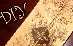 Harry Potter Marauder's Map   Diy   Youtube   Marauders Map Printable